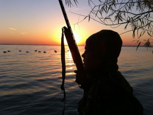 Sunset over Decoys.